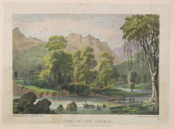 View in the Conkan. Plate 5 from 'Eight Most Splendid Views of India, sketched by an Officer in the Indian Army', published by Baron A. Friedel, London, 1833.
